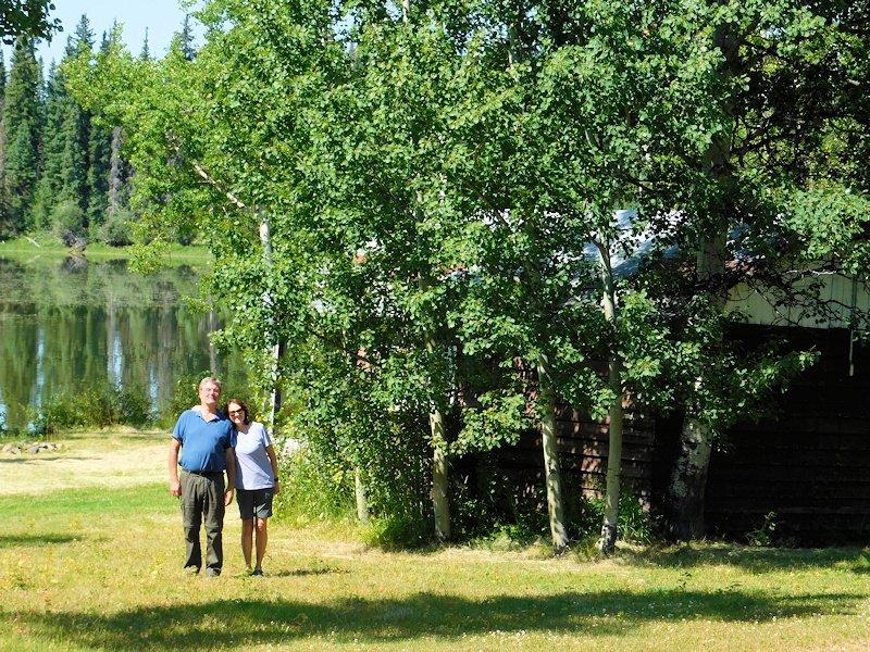 Guests at Anahgim Lake Resort, BC