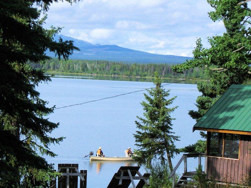 Canoe on Anahim Lake, BC