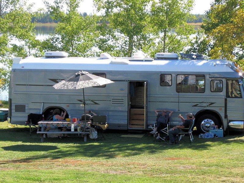 Lakeside RV Site at Anahim Lake Resort, Chilcotin, BC, Canada