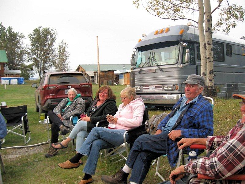Campers at Anahim Lake Resort, BC