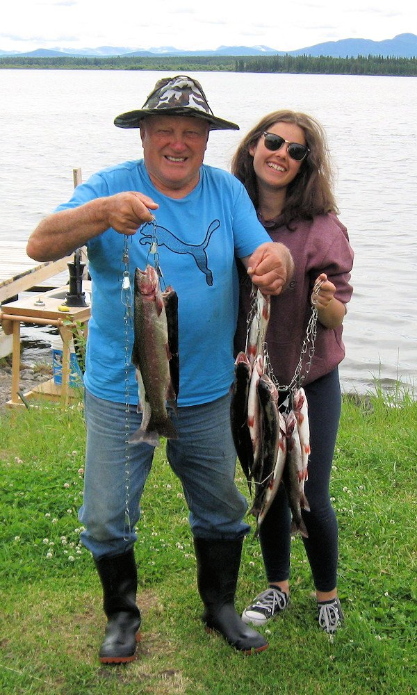 Catch of rainbow trout